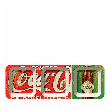 Petisqueira Retangular Em Botellitas Coca Cola - 3 Divisorias