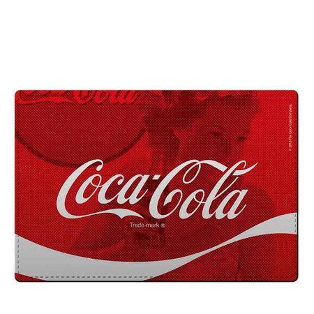 Jogo Americano e Porta Copos Coca-Cola Wave Vermelho - 4 Pecas