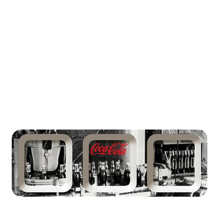Petisqueira Retangular Fabric Work PB Coca Cola