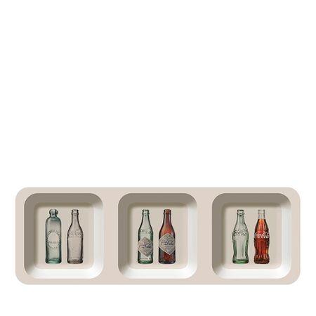 Petisqueira Retangular Garrafas Coca Cola - 3 Divisorias