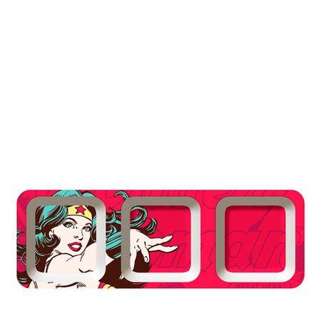 Petisqueira Retangular Mulher Maravilha Dc Comics - 3 Divisorias