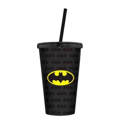 Copo com Canudo Batman DC Comics