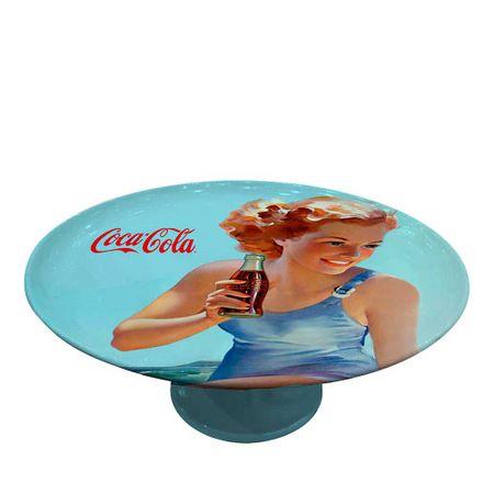 Prato de Bolo Pin Up Beach 28 Diam Vintage Coca Cola
