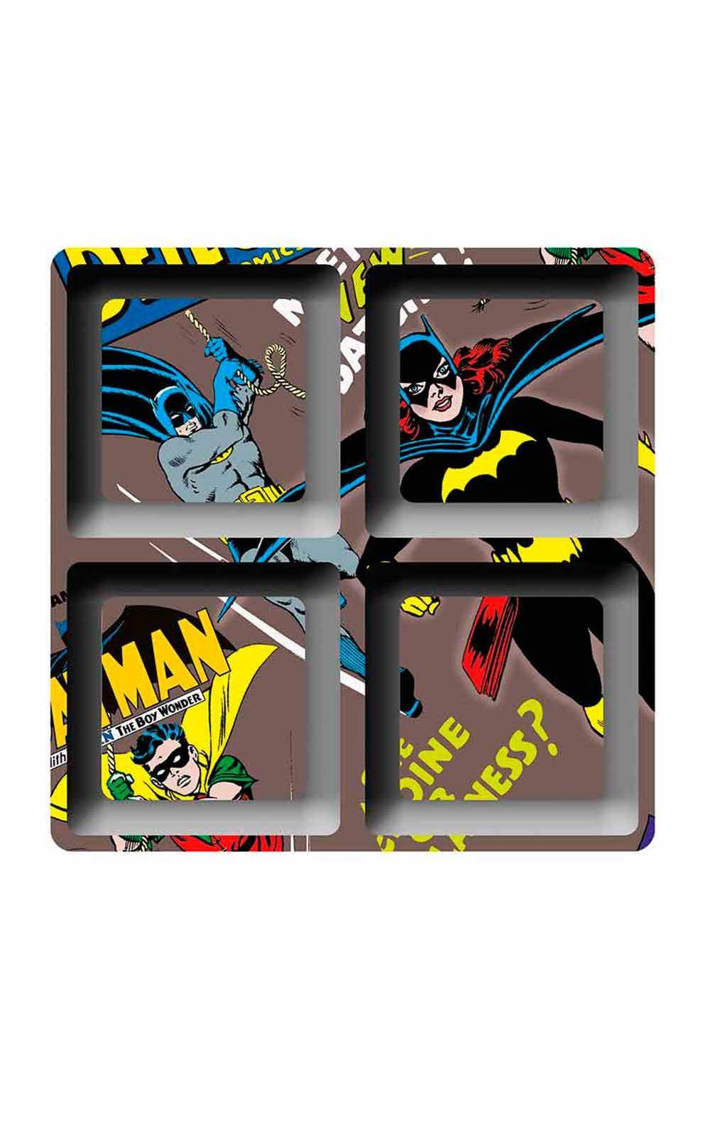 Foto 1 - Petisqueira Quadrada Batgirl Batman Dc Comics Marrom - 4 Divisorias