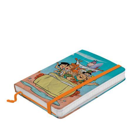 Caderneta de Anotação com Elástico Hb Os Flintstones Family in Car