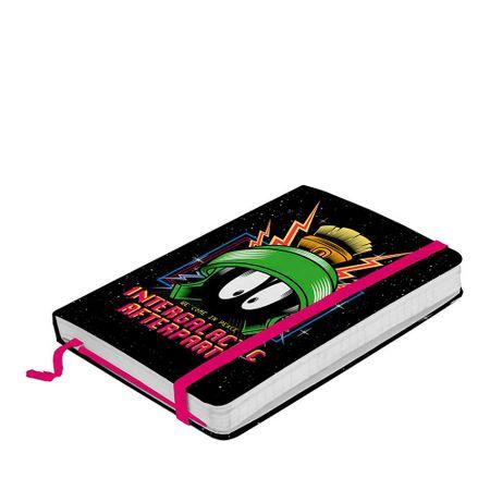 Caderno de Anotação com Elástico Marvin Intergalactic Afterparty Looney Tunes...