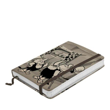 Caderno de Anotação com Elástico Fred e Barney Elegantes Os Flintstones Hanna...