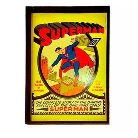 Bandeja de Madeira Super Homem Vintage DC Comics