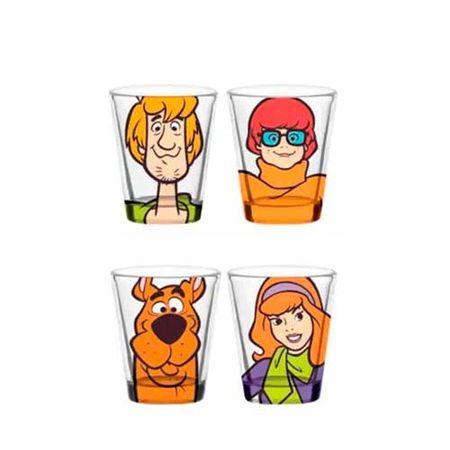 Copos de Shot Scooby Doo - 4 Unidades
