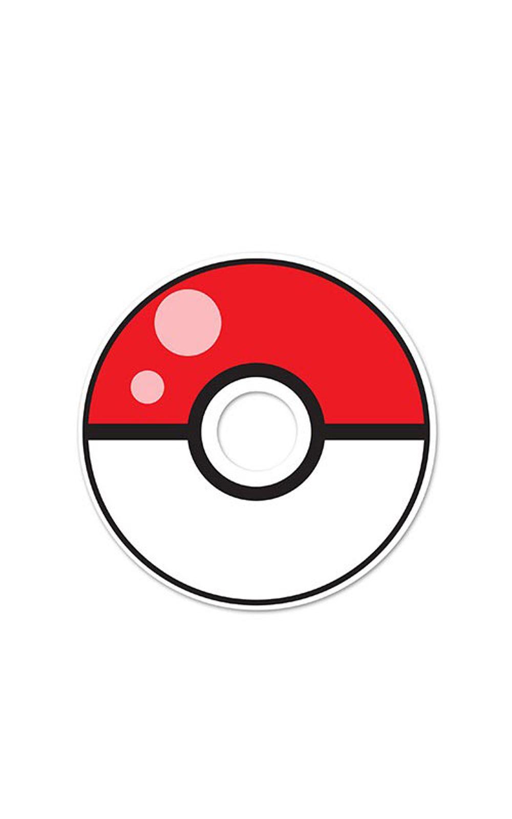 Foto 1 - Adesivo Olho Magico Pokebola Pokemon