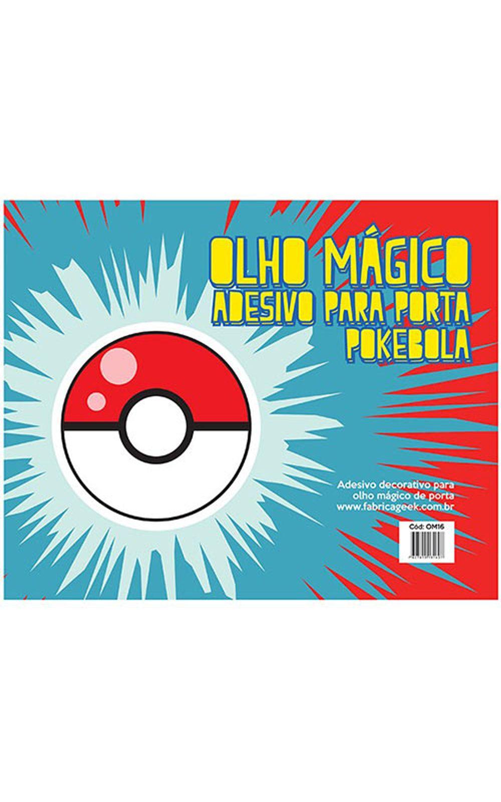 Foto 3 - Adesivo Olho Magico Pokebola Pokemon
