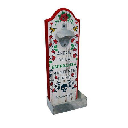 Abridor de Garrafa de Parede Frida Kahlo Pássaros e Flores