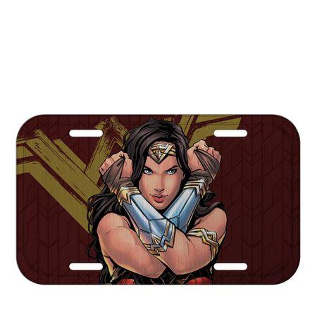 Placa de Metal Mulher Maravilha Filme DC Comics