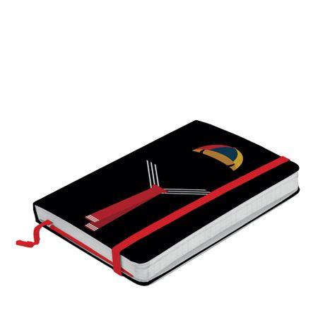 Caderno de Anotação com Elástico Kiko Silhueta Chaves