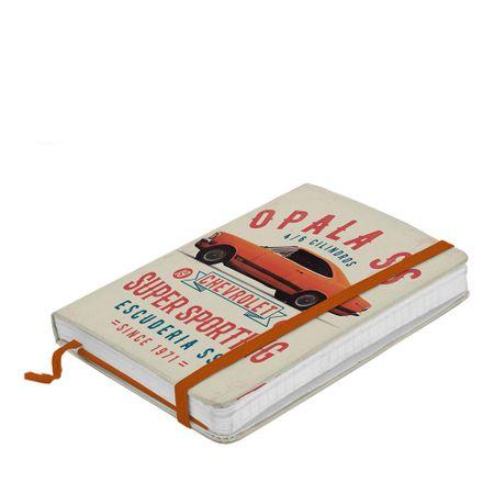 Caderno de Anotação com Elástico Carro Opala Laranja GM Chevrolet