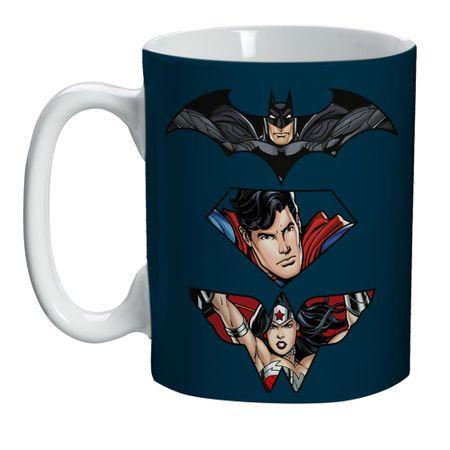 Mini Caneca Personagens Liga da Justiça DC Comics