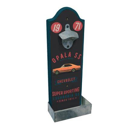 Abridor de Garrafa de Parede Carro Opala Laranja GM Chevrolet