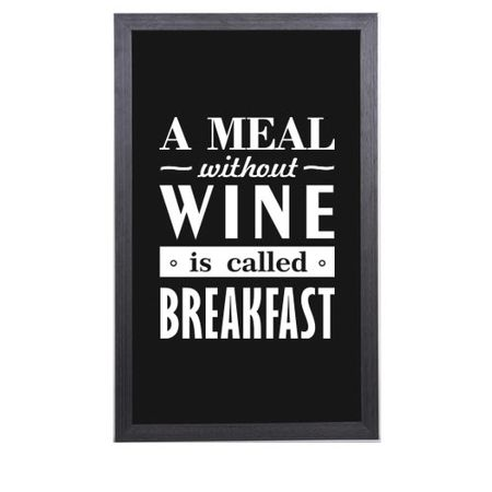 Quadro Porta Rolhas de Vinho Meal Without Wine is Called Breakfast
