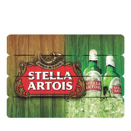 Placa Decorativa em MDF Ripado Cerveja Stella Artois