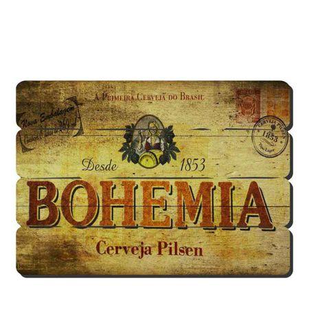 Placa Decorativa em MDF Ripado Cerveja Bohemia