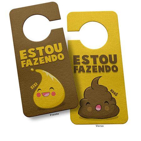 Aviso de Porta Banheiro Aviso Desnecessário Coco e Xixi