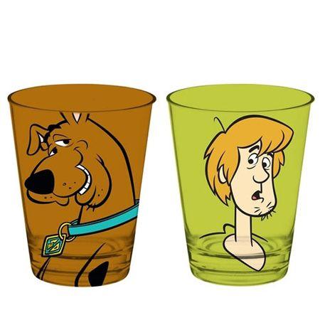Conjunto de Copos Salsicha e Scooby Doo Cachorro - 2 pecas