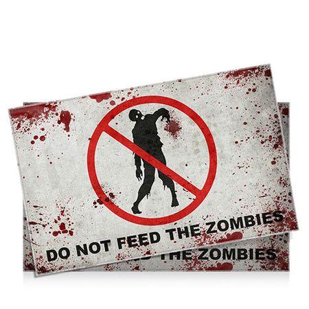 Jogo Americano Não Alimente os Zumbis - 2 pecas