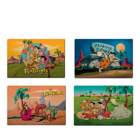 Jogo Americano Os Flintstones Hanna Barabera - 4 Unidades