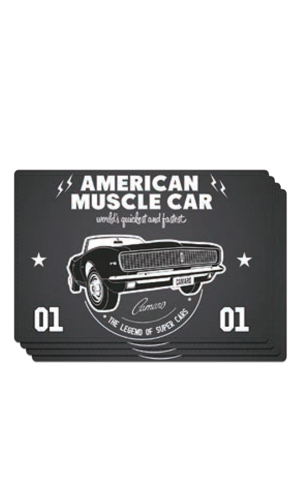 Foto 1 - Jogo Americano Carro Camaro Amerian Muscle GM Chevrolet - 4 Unidades