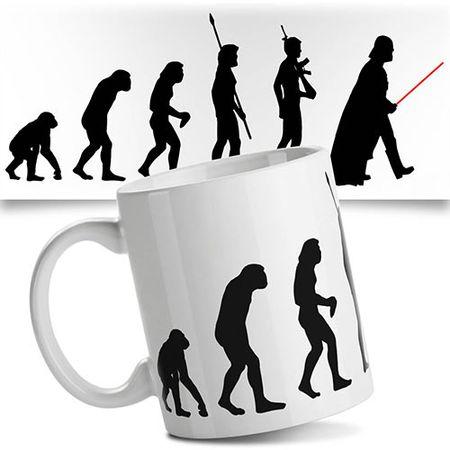 Caneca Star Wars Geek Evolution Evolucao