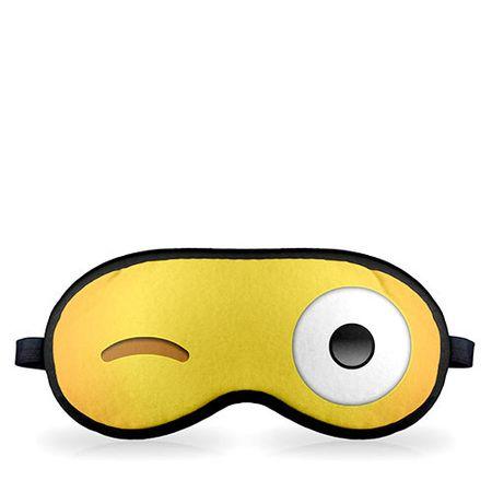 Mascara para Dormir Emoji Piscando o Olho Emoticon